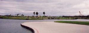 JFE瀬戸内海ゴルフ倶楽部  アウトコース 大池のある風景