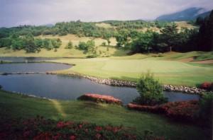 伊豆ゴルフ倶楽部 18番グリーンまわり