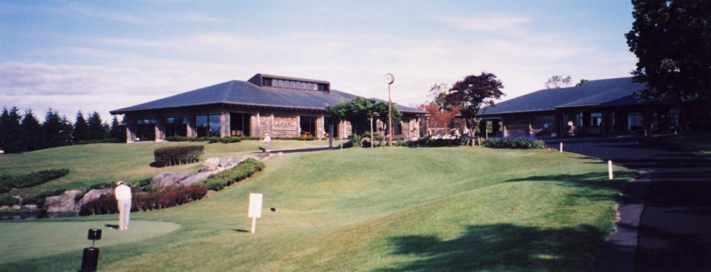 北海道クラシック・ゴルフクラブ 本棟と食堂が別棟になったクラブハウス