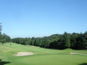 よみうりゴルフ倶楽部 1番ホール グリーン